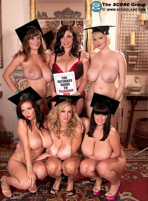 Six graduates with big boobs