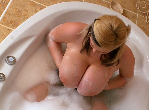 Ashley Sage Ellison in the tub
