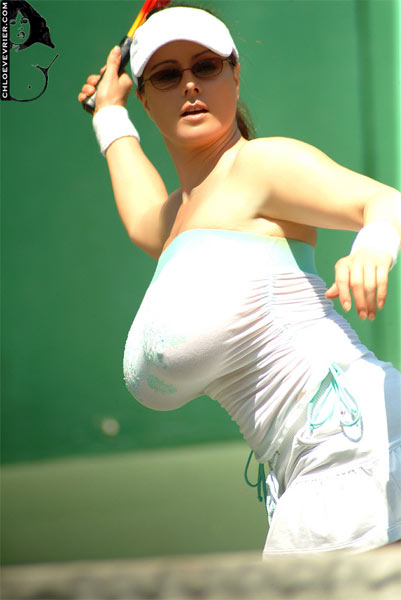 Female tennis player huge tits